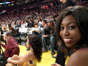 Courtside at a Laker's Game