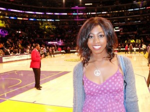 Courtside at a Laker Game