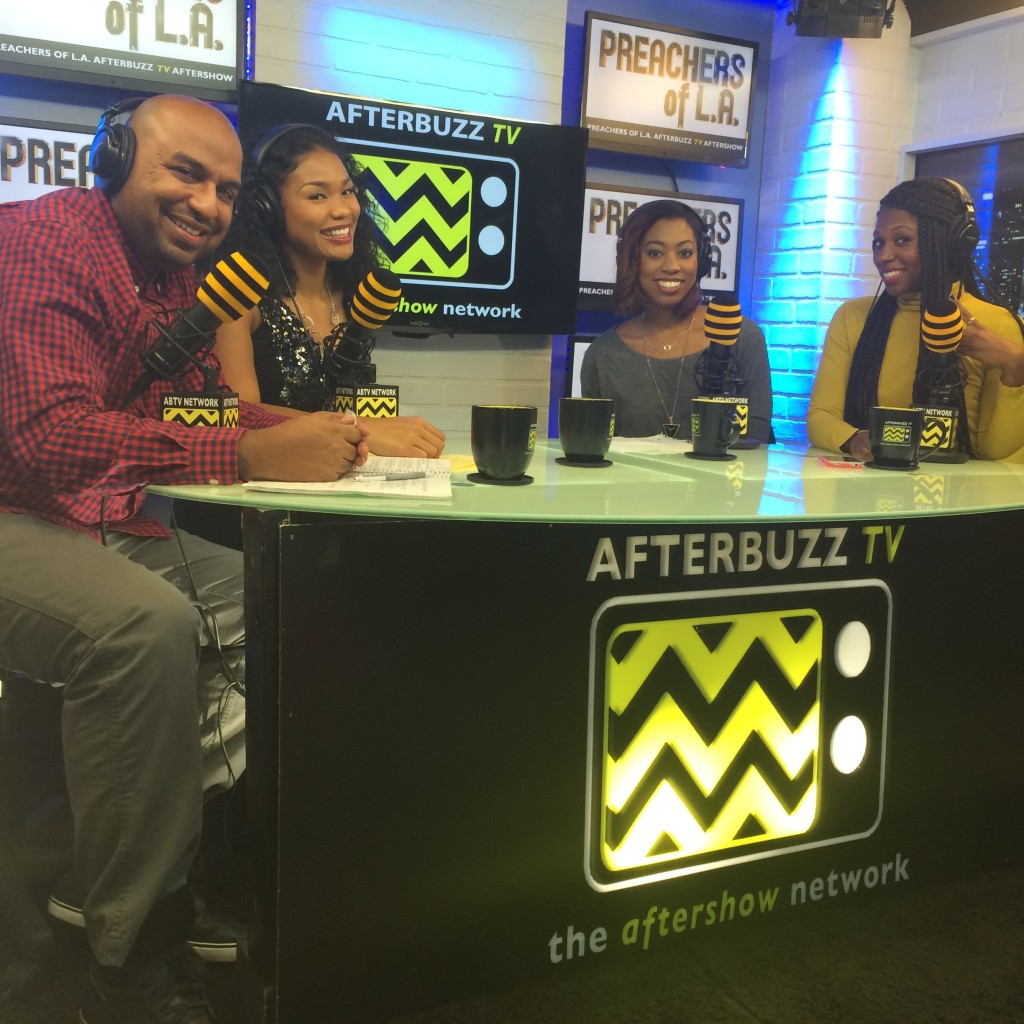 """The hosts of the """"Preachers of LA"""" Aftershow"""