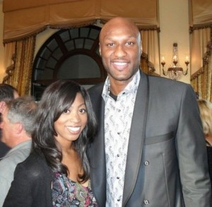 Lamar Odom at a Laker's Charity Benefit