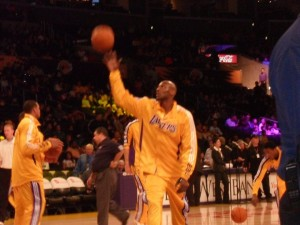 The Laker's Warm Up Before a Game